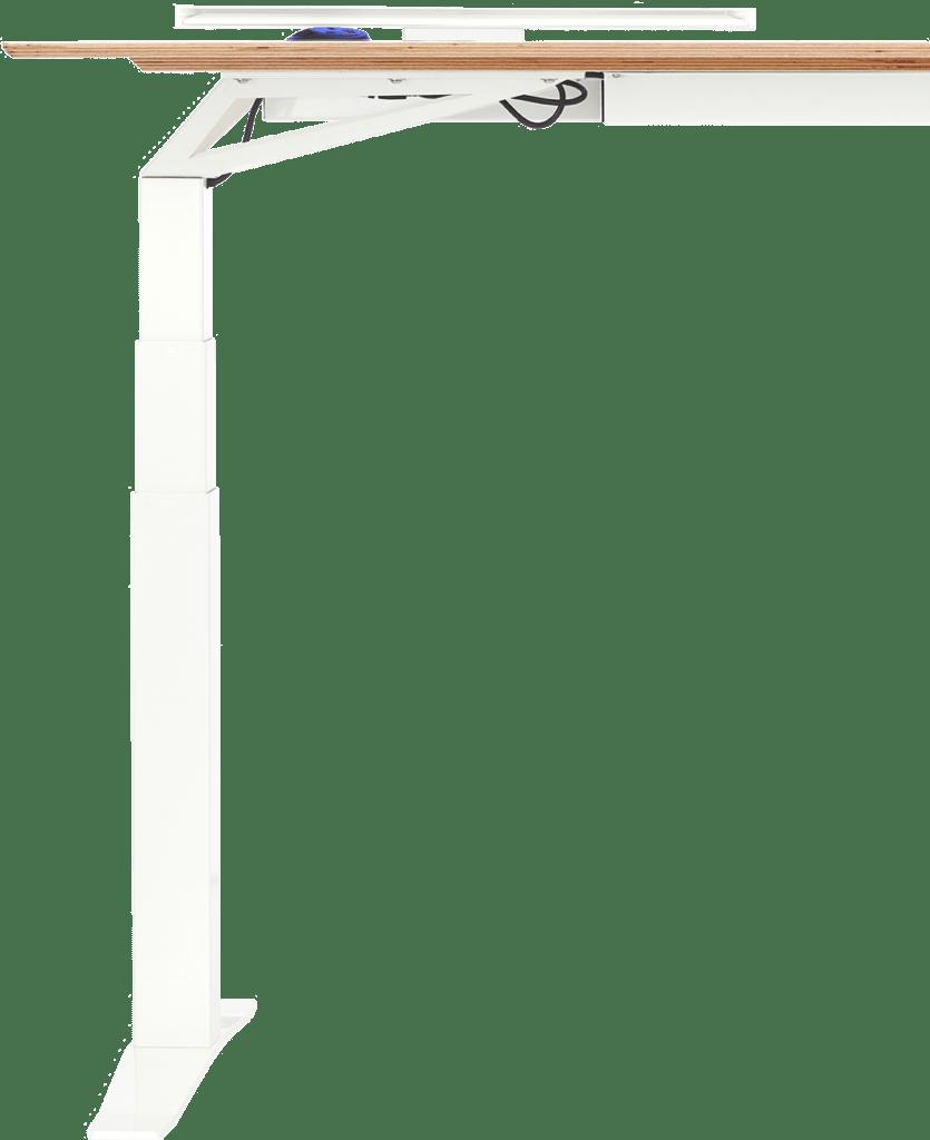 Front view of half of Electric height adjustable standing desk V-Desk Designer